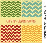 Christmas Chevron Seamless...