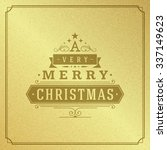 merry christmas typography... | Shutterstock .eps vector #337149623