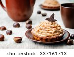 Chestnut Cake Mont Blanc On A...