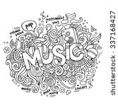 music hand lettering and... | Shutterstock .eps vector #337168427