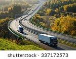 Asphalt Highway With Electroni...