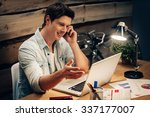 discussing new project....   Shutterstock . vector #337177007