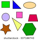 colored geometric shapes square ...   Shutterstock .eps vector #337188743