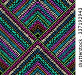 colorful stripes in squares   ... | Shutterstock .eps vector #337192943