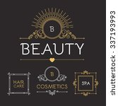 beauty and cosmetics logo... | Shutterstock .eps vector #337193993