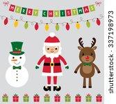 christmas characters vector set ... | Shutterstock .eps vector #337198973