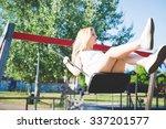 young handsome caucasian long... | Shutterstock . vector #337201577