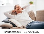 leisure time at home. cheerful... | Shutterstock . vector #337201637