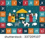 christmas advent calendar with... | Shutterstock .eps vector #337209107