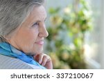 portrait of an older woman with ... | Shutterstock . vector #337210067