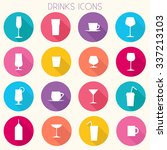 drinks colorful icons set  ... | Shutterstock .eps vector #337213103