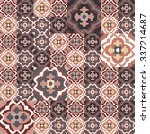 floor tiles   seamless vintage... | Shutterstock .eps vector #337214687