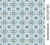 floor tiles   seamless vintage... | Shutterstock .eps vector #337214783