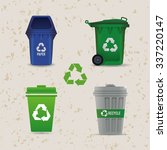 go green concept with eco icons ... | Shutterstock .eps vector #337220147