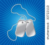 dog tags on background with...   Shutterstock .eps vector #33722113