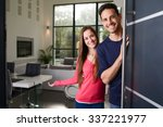 Happy Young Couple At New Hous...
