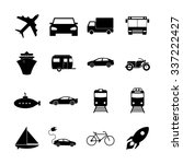 transportation icons. flat... | Shutterstock .eps vector #337222427
