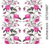 color  bouquet of flowers ... | Shutterstock . vector #337224887