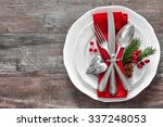 Christmas Table Place Setting....
