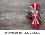 christmas table place setting.... | Shutterstock . vector #337248233