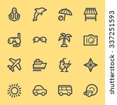 vacation web icons set | Shutterstock .eps vector #337251593