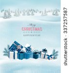holiday christmas background... | Shutterstock .eps vector #337257587