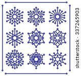 set of snowflakes with rounded... | Shutterstock .eps vector #337265903