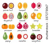 vector exotic fruits collection | Shutterstock .eps vector #337273067