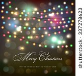 christmas lights background... | Shutterstock .eps vector #337278623