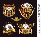 set of soccer football crests... | Shutterstock .eps vector #337279643