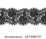 Black Lace On White Background