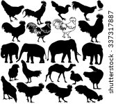 animal silhouettes set isolated ... | Shutterstock .eps vector #337317887
