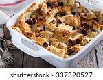 bread pudding breakfast... | Shutterstock . vector #337320527