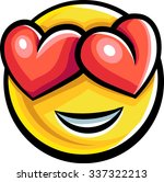 happy to be in love chat emoji... | Shutterstock .eps vector #337322213