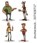 set of funny computer geeks ... | Shutterstock .eps vector #337328717