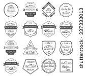 vector set of vintage symbols... | Shutterstock .eps vector #337333013