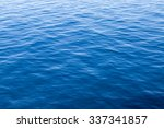 Blue Surface Of The Water...