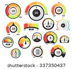 speedometer icons or circular... | Shutterstock .eps vector #337350437