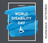 world disability day typography ... | Shutterstock .eps vector #337353803