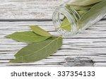 dried laurel leaves herbs over... | Shutterstock . vector #337354133