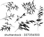 illustration with bamboo... | Shutterstock .eps vector #337356503