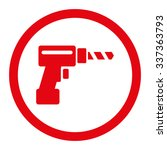 drill vector icon. style is...   Shutterstock .eps vector #337363793