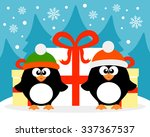 happy new year card with ... | Shutterstock . vector #337367537