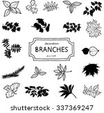 hand drawn vintage branches... | Shutterstock .eps vector #337369247