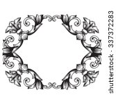vintage baroque frame scroll... | Shutterstock .eps vector #337372283