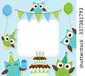 Vector Birthday Party Card Wit...