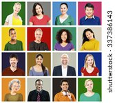 people diversity faces human... | Shutterstock . vector #337386143