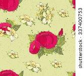floral seamless pattern... | Shutterstock .eps vector #337400753