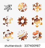 set of abstract colorful...   Shutterstock .eps vector #337400987