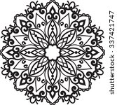 vector isolated mandala.henna... | Shutterstock .eps vector #337421747